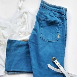 Rich & Skinny Slim Bootcut Bright Teal Blue Jeans